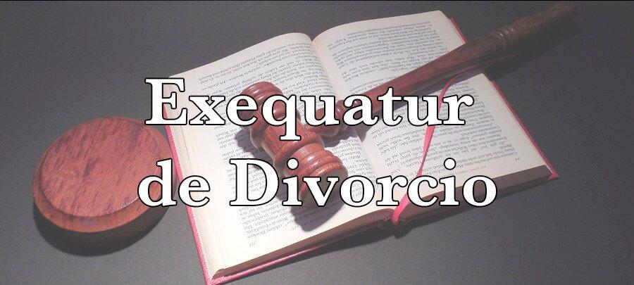 Exequátur de divorcio